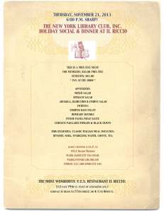 Il Riccio November 21, 2013